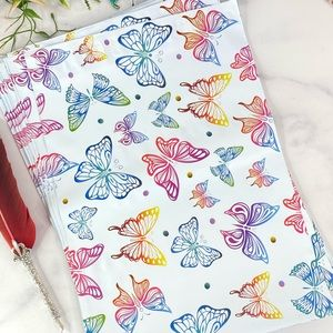 50 10X13 Rainbow Butterfly Poly Mailers PRICE FIRM